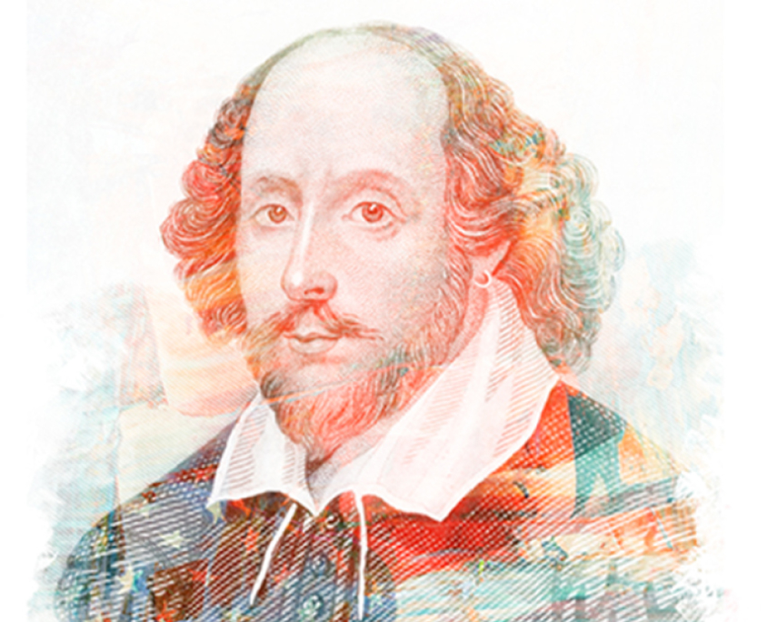 Mixed Media Bust of Shakespeare
