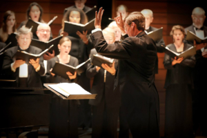 Conducting of the Southern Oregon Repertory Singers performance