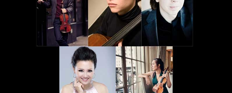 Head shots of the performers for Chamber Music Society