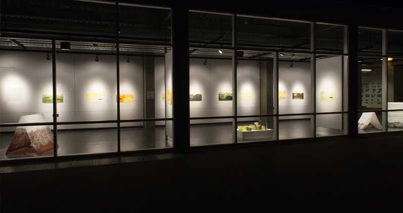 Front of Art Building for Round 3 Spring Art Exhibition