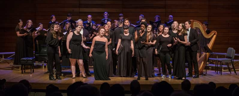 SOU Choirs Concert performing on stage