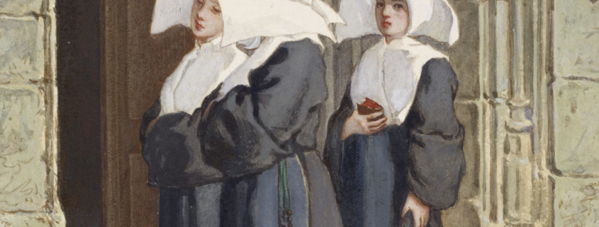 """Nuns grouped together for the cover of """"Silkworms"""""""